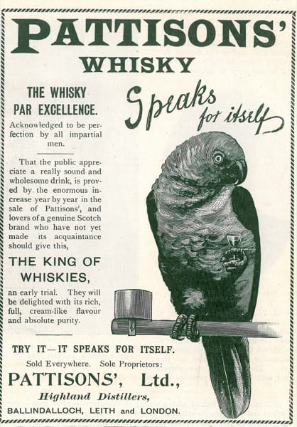 Pattison Whisky Advertisement